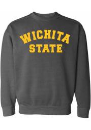 Wichita State Shockers Womens Charcoal Simple Crew Sweatshirt