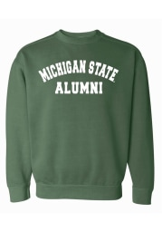 Michigan State Spartans Womens Green Alumni Crew Sweatshirt