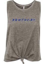 Kentucky Women's Grey Wordmark Dots Tank Top