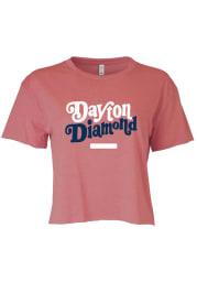 Dayton Women's Smoked Paprika Diamond Cropped Short Sleeve T-Shirt