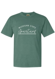 Michigan State Spartans Womens Green New Basic Short Sleeve T-Shirt