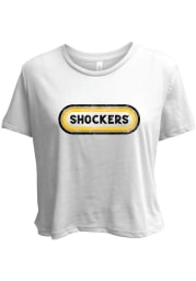 Wichita State Shockers Womens White Ombre Oval Short Sleeve T-Shirt