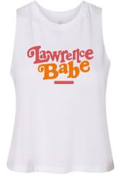 Lawrence Women's Babe Racerback Cropped Tank Top - White