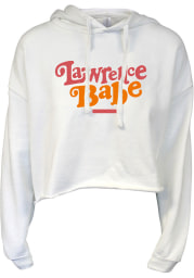 Lawrence Women's Babe Cropped Long Sleeve Lightweight Hood - White