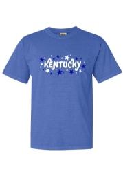 Kentucky Women's Blue Wordmark Stars Short Sleeve T-Shirt