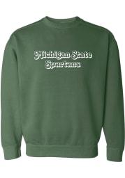 Michigan State Spartans Womens Retro Shadow Crew Sweatshirt