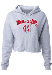 Kansas City Monarchs Womens Grey Wordmark Hooded Sweatshirt