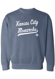 Kansas City Monarchs Womens Blue Script Crew Sweatshirt