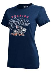 Reading Fightin Phils Womens Navy Blue Mia Short Sleeve Crew T-Shirt