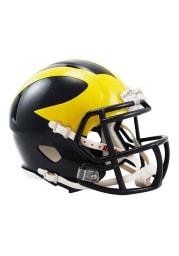 Michigan Wolverines Navy Speed Mini Helmet