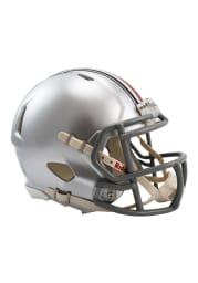 Ohio State Buckeyes Silver Speed Mini Helmet