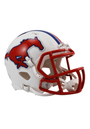 SMU Mustangs White Speed Mini Helmet