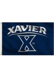 Xavier Musketeers 3x5 Navy Grommet Navy Blue Silk Screen Grommet Flag