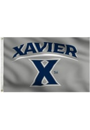 Xavier Musketeers 3x5 Grey Grommet Grey Silk Screen Grommet Flag