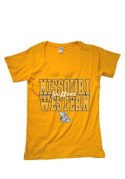 Missouri Western Griffons Womens Gold Arched Mascot Short Sleeve Fit Tee