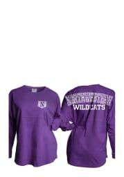 Northwestern Wildcats Womens Purple Gameday LS Tee