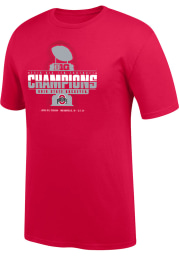 Top of the World Ohio State Buckeyes Red 2019 Big Ten Conference Champions Short Sleeve T Shirt