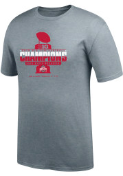 Top of the World Ohio State Buckeyes Grey 2019 Big Ten Conference Champions Short Sleeve T Shirt