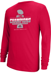 Top of the World Ohio State Buckeyes Red 2019 Big Ten Conference Champions Long Sleeve T Shirt