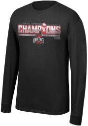 Ohio State Buckeyes Black 2020 Big 10 Conference Champions Locker Room Long Sleeve T Shirt