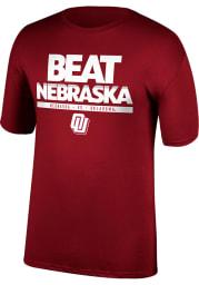 Oklahoma Sooners Crimson Beat Nebraska Game Of The Century Short Sleeve T Shirt