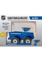 St Louis Blues Push Pull Wooden Figurine