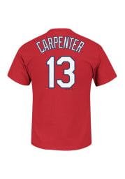 Matt Carpenter St Louis Cardinals Red Name and Number Short Sleeve Player T Shirt