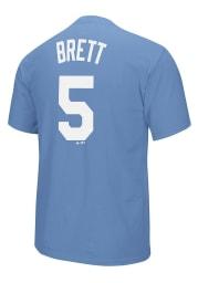 George Brett Kansas City Royals Light Blue Cooperstown Short Sleeve Player T Shirt