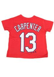 Matt Carpenter 13 St. Louis Cardinals Toddler Red Screen Print Short Sleeve Player T