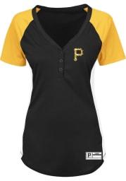 Pittsburgh Pirates Womens Majestic League Diva Fashion Baseball Jersey - Black