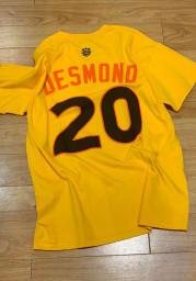 Ian Desmond Texas Rangers Yellow ASG 2016 Short Sleeve Player T Shirt