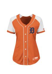 Detroit Tigers Juniors Majestic Fashion Replica Fashion Baseball Jersey - Orange