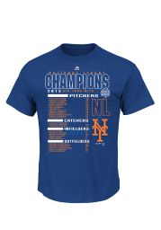 New York Mets Royal 2015 NL Champs The Finest Roster T-Shirt
