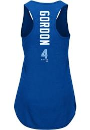 Alex Gordon Majestic Kansas City Royals Womens Blue Racerback Player Tank Top