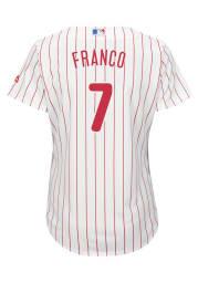 Maikel Franco Philadelphia Phillies Womens Replica Cool Base Home Replica Jersey - White