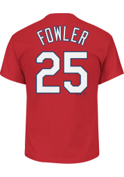 Dexter Fowler St Louis Cardinals Red Name and Number Short Sleeve Player T Shirt