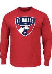 Majestic FC Dallas Red Logo Long Sleeve T Shirt