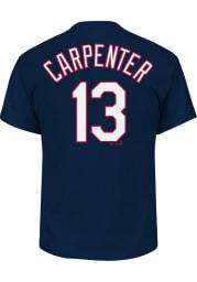 Matt Carpenter St Louis Cardinals Navy Blue Name and Number Short Sleeve T Shirt