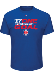 Majestic Chicago Cubs Blue 17 One Goal Short Sleeve T Shirt