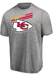 Majestic Kansas City Chiefs Grey Pro Grade Short Sleeve T Shirt