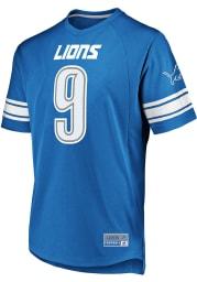 Matthew Stafford Detroit Lions Light Blue Hashmark Short Sleeve Fashion Player T Shirt
