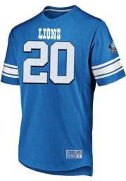 Barry Sanders Detroit Lions Light Blue Hashmark Short Sleeve Fashion Player T Shirt
