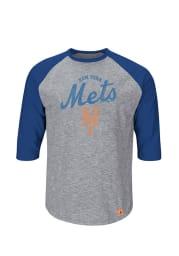 Majestic New York Mets Gray Long Sleeve Tee