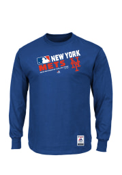 Majestic New York Mets Blue Long Sleeve T-Shirt