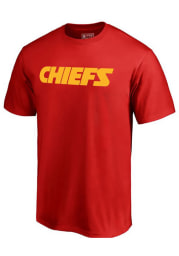 Majestic Kansas City Chiefs Red Number 1 Dad Short Sleeve T Shirt