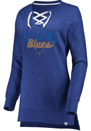 Majestic St Louis Blues Womens Blue Hyper Lace Tunic Crew Sweatshirt