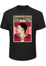 Ben Simmons Philadelphia 76ers Black Greatest Impact Short Sleeve Player T Shirt