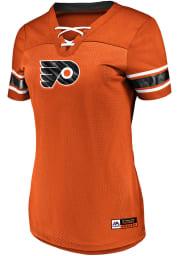 Majestic Philadelphia Flyers Womens Majestic Draft Me V Neck Fashion Hockey Jersey - Orange