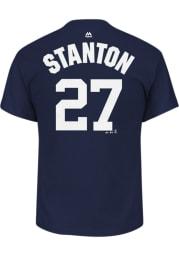 Giancarlo Stanton New York Yankees Navy Blue Name Number Short Sleeve Player T Shirt