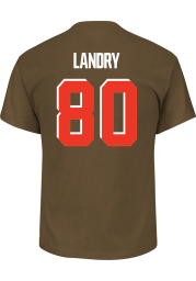 Jarvis Landry Cleveland Browns Brown Name and Number Short Sleeve Player T Shirt